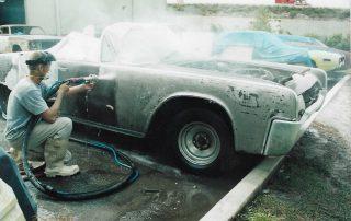 Soda Blasting a 64 Lincoln Continental
